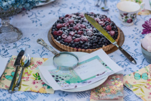 Garden Party Ideas - berry cake and accusations over tea