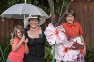 Garden Party Ideas - Flower and Photo Area with Kids