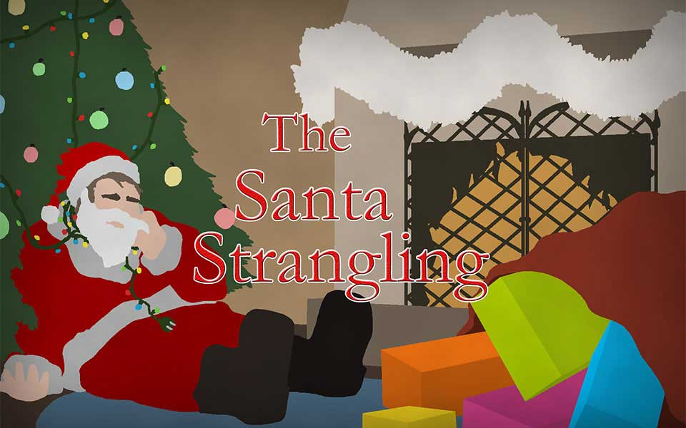 The Santa Strangling Interactive Mingle Murder Mystery Party Game