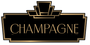 Art Deco Border with the word Champagne in the middle