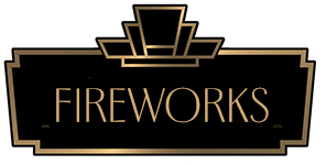 Art Deco BORDER WITH THE WORD FIREWORKS INSIDE