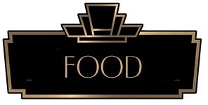 Art Deco BORDER WITH THE WORD FOOD INSIDE