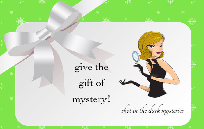 Murder Mystery Gift Cards from Shot In The Dark Mysteries