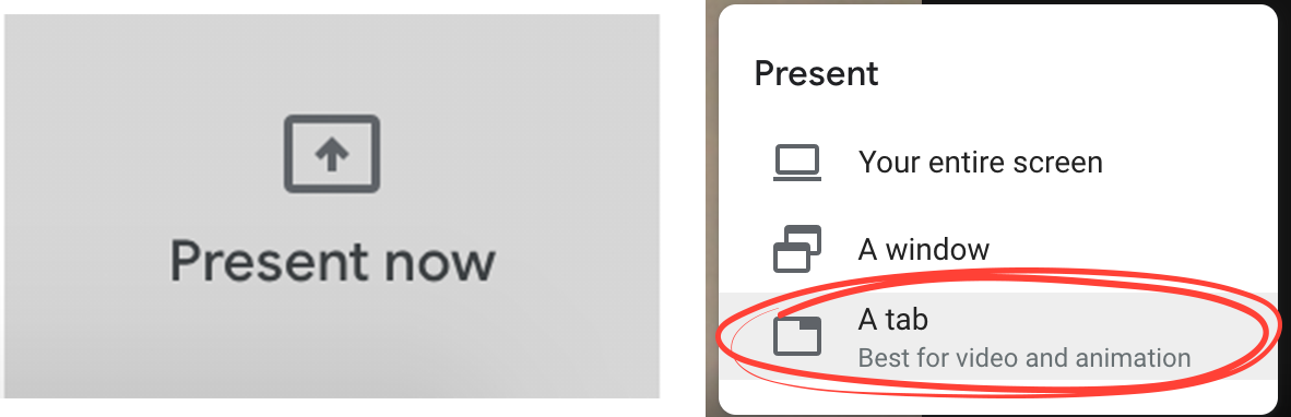 Google Meet Present Now