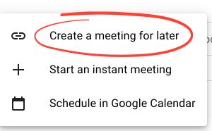 Schedule a Google Meet Murder Mystery