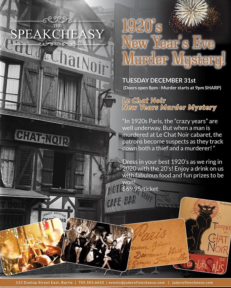 New Years Eve Murder Mystery Party at The Speakcheasy