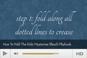 How to Fold Kids Sleuth Flipbook Video